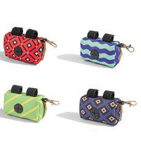 Colorful Dog Poop Bag Holder Fashion Pet Waste Bags Dispenser Premium Quality Pick-Up pocket Zippered Pouch Pets Supplies DWF9499