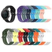 Watch Bands Strap For Huawei GT2 Pro 22mm 14Colors Silicone Replacement Drop-proof Soft Rubber Bracelet Band Accessories