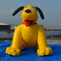 Huge lovely inflatable yellow dog christmas dogs balloons toys for party decoration Pet shops and pets hospitals advertising