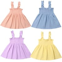 Girl's Dresses Baby & Children's 1-5Years Cute Toddler Girls Princess Pageant Wedding Sling Dress Sunsuit Outfits