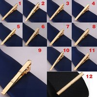 Hommes Métal Alliage Cravate Clip Collier Crousely Bar Mariage Mariage Mariage Business Fashion Cadeaux officiels