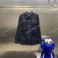21SS Mens Designers Jassen Denim Jacquard Pocket Kleding Stand Kraag Jassen Bovenkleding Hooded Mannen Kleding Katoen Revers Hals Zwart Wit Xinxinbuy