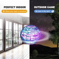 Flynova Pro Flying Ball Mini Helicopter UFO Spinner Lights Aircraft Smart Hand Sensing Operated UAV Gift Adults Toys For Kids Drones