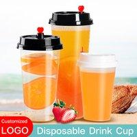 Starbucks Mug Water Bottles Disposable Drinks Cups With Straw Milk Tea Cup Coffee Tumblers Restaurant bar Cafe Customizable LOGO Mugs