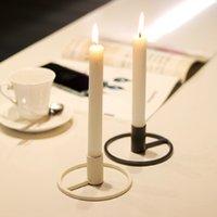 Cheap железная одиночная голова подсвечник креативное свадебное украшение Nordic романтический металлический свечей ужин утюг