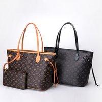 Bolsas conjuntos de hombros y monederos para mujeres Luxury Tote Mahjong Diseñador de cuero Big Shopper Shopping Bolsos Fashion Retro