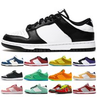 Dunk Mens Running Shoes Low Black White University Red Shado...