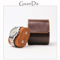 Bag Parts & Accessories Luxury PU Leather Watch Roll Case Travel Portable 1 Grid Single Display Organizer Storage Box With Detachable Pillow