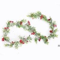 Weihnachtsdekor Rattan Blume Baum Ornament Outdoor Rot Schneeflocke Zweig Natürliche Kiefernzapfen Bunte Dekoration Schaum Eisendraht HWF10284