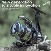1000E-4000E Innovative Carp Spinning Reel Hollow Design Light JK No-gap System Saltwater Fishing Accessories Baitcasting Reels