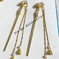 Accessoires pour les cheveux pour femmes Hanfu Mariage Headwear Set Tassel Hairpin Ancien HairClip Double Dolder Clips Barrettes