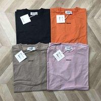 T gömlek 20ss t-shirt yüksek kaliteli erkek kadın çift yansıtan kediler üst çaylar pusu t-shirt