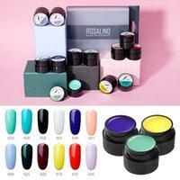 PerfeitosRosalind gel unha polonês conjunto 12 pçs / set pintura aranha brilhante gel manicure set stamping acrílico unha kit verniz tudo para manicure