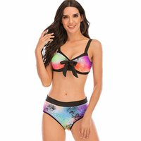 Plus Size Bikini Shiny Swimsuit 2 Piece Sets Womens Bathing Suit Large Swimwear Bowknot Swimming Sexy Bikinis Women's