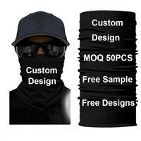 Custom Mascarillas Tube Bandana Face Mask Hiking Scarf Buff Bandanas Shield Headband Ski Balaclava Black Lives Matter 50PCS Cycling Caps & M
