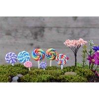 Decoraciones de jardín Polimer de colores Lollipops Suave Clay DIY Juguetes ensamblados Miniatura Decoración de hadas Micro Paisaje Accesorio Cactu Planter Regalo UE84