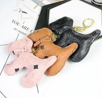 Luxury Old Flowers Dog Design Simulated Animal Key Chain Brand Designer Bag Backpack Print KeyRing Cartoon Pattern Car Keychain Phone Pendant Hanging Ornament