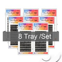 False Eyelashes Ncsuraeyclash 8pcs Lot 1 Second Blossom Eyelash Extensions Supplies 12 Rows Mink Softer Fake Natural Wispy Lash