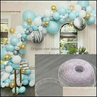 Event Festive Party Supplies Home & Gardenparty 5M Roll Balloon Chain Tape Arch Connect Strip For Wedding Ballon Supply Kids Birthday Decora