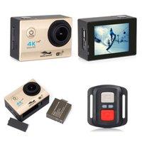"""울트라 HD 4K 액션 WIFI 2.0 """"1080P 스포츠 카메라 DVR 170D GO 방수 프로 캠 자전거 헬멧 미니 DV 리모컨"""