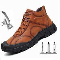 Boots Mens Industrial Waterproof Steel Toe Anti Smashing Protecitve Work Shoes Men Tactics Indestructible Safety