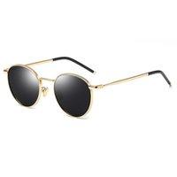 2021 خمر الأزياء الإطار المعادن المرأة الفاخرة تصميم العلامة التجارية الاستقطاب النظارات الشمسية عالية الجودة للجنسين القيادة ظلال
