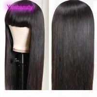 100% menschliches Haar Peruanisches Reines Haar Natürliche Farbe Gerade Vollmaschine Perücken Gewebt Kopfbedeckungskörper Wellenkapelle Wigns 10-32inch