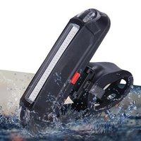 Аккумуляторный велосипедный светодиодный светильник водонепроницаемый USB передняя задняя задняя задние задние задние фонари велосипедных сигналов безопасности света велосипедная лампа