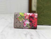 도매 최고 품질 PVC 꽃 키 홀더 가방 케이스 지갑 먼지 가방 및 원래 상자와 6 키 후크