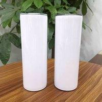 Wholesale 20 oz sublimación espacios en blanco recta flaca tambor de doble pared de acero inoxidable 20 oz tazas a granel