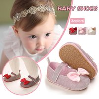 First Walkers Baby Shoes Girl Soft Shallow Princess Cute Mesh Bow Non-slip Fashion Crib Prewalkers Shoe12 For 0-18M
