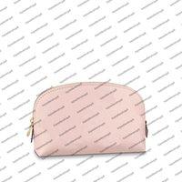 M80502 bolsa cosmética mulheres saco de desenhista delicado bolsa rosa cor gradação de cor gravada embreagem de couro de couro bolsa de bolsa pequena