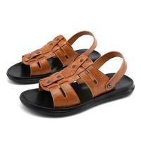 Sandals Para Geta Masculino On Mens Breathable Leather 39 Dress Mountain Sandalia Walking Em Man Cuero Beach Male Plage Couro Piel