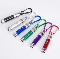 3 in 1 Funny Pet stick Cat Toys Red Laser Pointer Pens With White Purple LED Light Show Key Chain Money Detector Pen toy SN5517