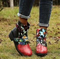 Large size boots women's shoes autumn and winter in the tube color matching waterproof platform belt buckle side zipper Martin boot
