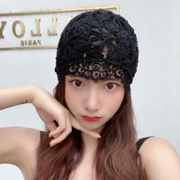 Beanie Skull Caps Elegant Handmade Hollow Out Beanies With Lace Brim Sexy Women's Hat Autumn Spring Fashion Designer Bonnet Casual Cap Whole