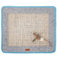 Кошка кровати мебель Sisal Claw Pad Натуральный материал Строгое ремесло, предназначенное для скольжения прочный вдумчивый дизайн-кровать