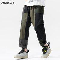 Varsanol Askeri Pantolon Erkekler 100% Pamuk Düz Streerwear Pantolon Eklenmiş Büyük Cepler Moda Giyim Tam Boy 4XL Erkekler
