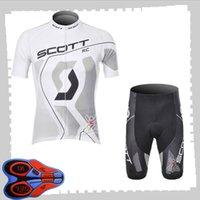 Scott Team Cycling Mangos cortos Jersey (babero) Sets Shorts Sets Mens Summer Transpirable Road Bicycle Ropa MTB Bike Outfits Uniforme deportivo Y210414223