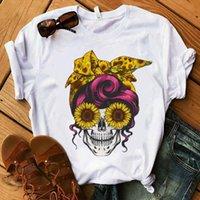 Sommer Camo Schädel Männer Herren T-Shirt Leopard Bandana Gedruckt Mama Lustige T-Stück Mode Sonnenblume Harajuku Ästhetisch