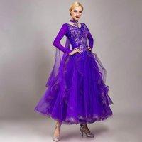 Stage Wear Ballroom Dance Competition Dress per abiti da ballo Waltz Rumba costumi indossare abito da ballo rosa UB6S