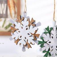 Christmas Ornament Felt Snowflake Pendant DIY Decoration Xmas Tree Hanging Pendants Crafts SEA SHIP RRB11148
