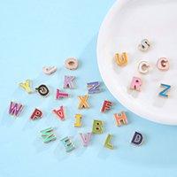 Joyería hecha a mano al por mayor 26 letra Aleación de aleación Aceite espaciador Espaciador Pulsera DIY Pulsera English Jewelry Accesorios