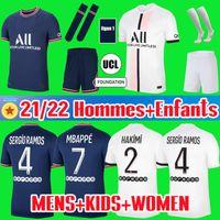 20/21 MBAPPE 축구 유니폼 키트 VERRATTI MARQUINHOS KIMPEMBE Paris ICARDI CAVANI Survetement Kids Soccer Jersey 2020 2021 Soccer Jerseys Kids Kits