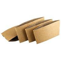 Kahve Fincanı Kollu Tek Kullanımlık Tutucular Kraft Oluklu Kağıt Çay Anti Haşlama Hediye Paketi