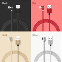 2021 Cabos de ventosa de cotovelo de cabo USB é adequado para Android Type-C Outros Acessórios de carregamento de Magnetics Round Nylon