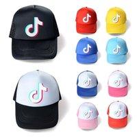 10 colori Summer Mesh Ball Hat Tiktok logo Berretto da baseball Designer Unisex Snapbacks Net Patchwork Ponytail Cappelli Sport Beach Visor