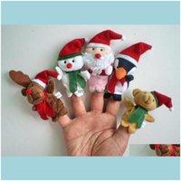 Фаршированные животные Игрушки Giftscartoon Рождественские Тема Пальцы Куколы Санта Лось Снеговик Пингвин Ранний Образование Плюшевая игрушка, Родитель-Ребенок Интак