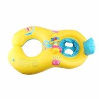 Надувные поплавки трубы младенца плавать поплавок мать и ребенок плавание круга кольца сиденья трубки двойной Бои фламинго