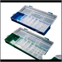 المحمولة طبقة مزدوجة متعددة الوظائف الصيد إغراء معالجة أداة مربع دائم البلاستيك للاكسسوارات معدات تخزين 0yqve xeybc
